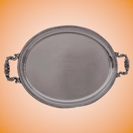 Victorian Silver Plated Oval Tray, Barker Bros.
