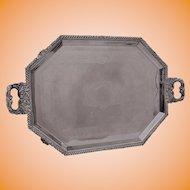 Victorian English Silver-plate Tea Tray, Octogonal