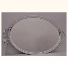 Oval Silver plate Tray by James Dixon c 1915