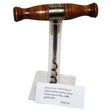 Corkscrew, American Haff Patent
