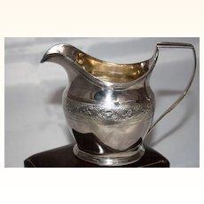 George III Sterling Silver cream jug c.1801