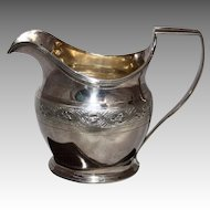 George III Sterling Silver cream jug c.1801