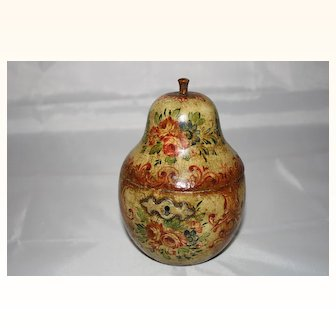 Eng. Pear tea caddy c.1810