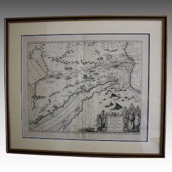 Jansson's map of Egypt early 18th century
