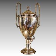 English 19th c. Silverplate Hot Water Urn