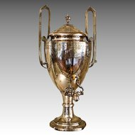 English 19th c. Silverplate Hot Water Urn