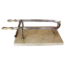 Marble Base Ham/Roast  Carving Stand  {Porte-Jambon} French c.1890