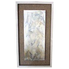 """Gloria Ross, ""Conversation""  Acrylic Gel on steel painting"