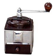 1950's Peugeot French Coffee Grinder / Mill - Peuginox bakélite - Stainless Steel