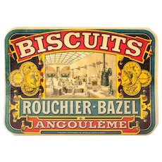 Rare: Early 1900s French Retail Window Transfer / Decal - Rouchier Bazel - New Old Stock