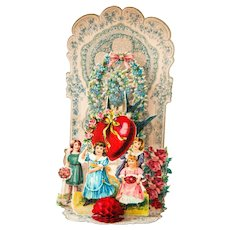 Early 1900s Valentine Pop-up Card - Made in Germany - Shabby Chic