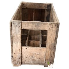 1950s French Wooden Wine Bottle Crate - 15 bottles - Heavy Crate - Country or Cellar Decor -  Chalons Sur Marne - Champagne Region