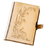 1890s French Small Missel - Antique Bakelite Prayer Booklet with Gilded Pages