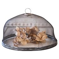 "Vintage French Food Screen - 10"" Diameter - French Farmhouse Kitchen - Shabby Chic Garden"