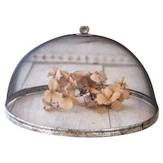 """Vintage French Food Screen - Large Size - 12"""" Diameter - French Farmhouse Kitchen - Shabby Chic"""