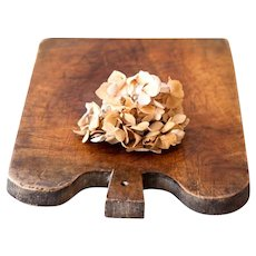 Vintage French Wooden Bread Board - Large Size - Rustic Cheese and Bread Tray - French Cottage or Farmhouse
