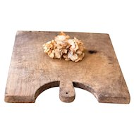 Vintage French Wooden Bread Board - XL Size - Rustic Cheese and Bread Tray - French Cottage or Farmhous