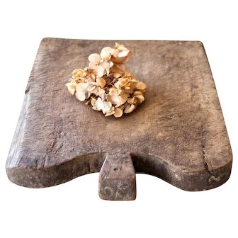 Vintage French Wooden Bread Board - XL Size and Heavy - Rustic Cheese and Bread Tray - French Cottage or Farmhouse