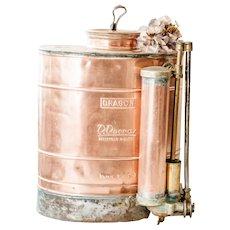 Antique French Copper and Brass Plant Vaporizer - Dragon - Antique Copper Garden Sprayer