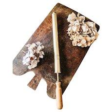 Antique French Brass Rose Sprayer - Brass and Wood Garden Syringe - Size 2