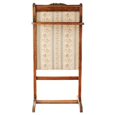 French Antique, Fire Guard, Fire Screen, Spark Guard, French Fireplace Garniture, Castle Decor, Shabby Boudoir, Carved Wood & Tapestry Style