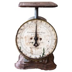 1910s Columbia Family Scale - Landers Frary & Clark  - Rusty Grey