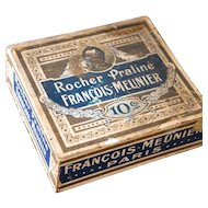 Early 1900s French Chocolate Retail Wood Box - Chocolat Francois Meunier Paris