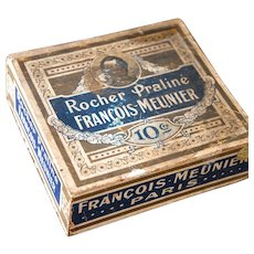 Early 1900s French Chocolate Retail Wood Box - Chocolat Francois Meunier Paris