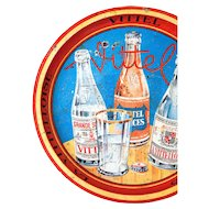 1960s French Advertising Bar Tin Tray - Vittel - La Vittelloise