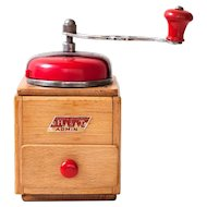 Mid Century German Coffee Mill - Armin with Red Bakelite Top