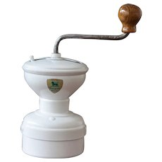1950s Peugeot Coffee Grinder - Model Diabolo with Original Logo - White Color