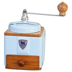 1950's Peugeot French Coffee Grinder / Mill - Baby Blue
