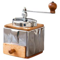 950's Peugeot French Coffee Grinder / Mill - Modele Peuginox - Stainless Steel