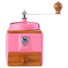 1950's Peugeot French Coffee Grinder / Mill - Retro Pink