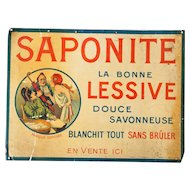 1920s French Tin Advertising - Saponite La Bonne Lessive - Laundry Soap