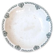 1930s French Ironstone Round Serving Dish - Country and Rustic Kitchen