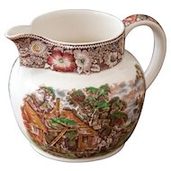 Vintage W. R. Midwinter Ironstone Pitcher - Rural England - Shabby Chic Decor