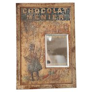 Rare: Early 1900s French Retail Sign - Chocolat Menier - Shabby Chic or Retail Decor
