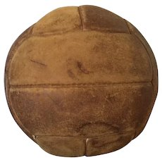 Vintage leather medicine ball, exercise ball