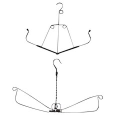 Pair of turn of the century wire hangers with fabulous form