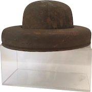 Vintage wooden bowler hat block form