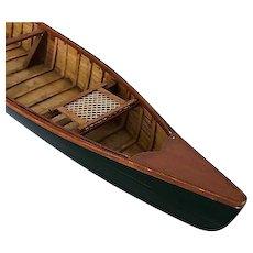 Vintage Adirondack canoe model, excellent