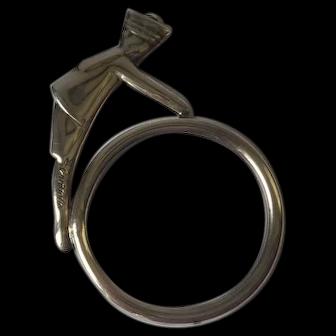Vintage Christofle figural napkin ring