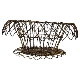 Vintage wire work basket, perhaps French