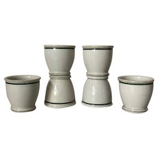 Set of 6 restaurant ware double egg or custard cups
