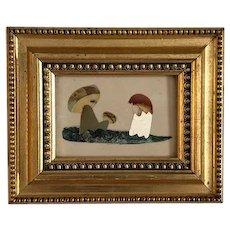 Framed Pietra Dura mosaic of funghi