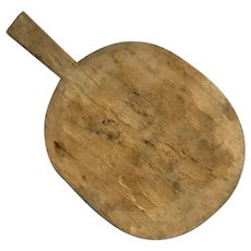 Large French hand carved bread board or oven peel with handle