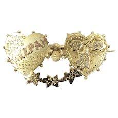 Victorian 9ct Gold Mizpah Brooch