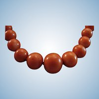 """Ever So Lovely Victorian Natural Coral 4-9.6mm Bead Necklace - 17"""""""