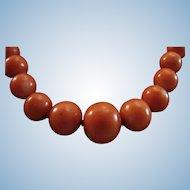 Ever So Lovely Victorian Natural Coral 4-9.6mm Bead Necklace - 17""